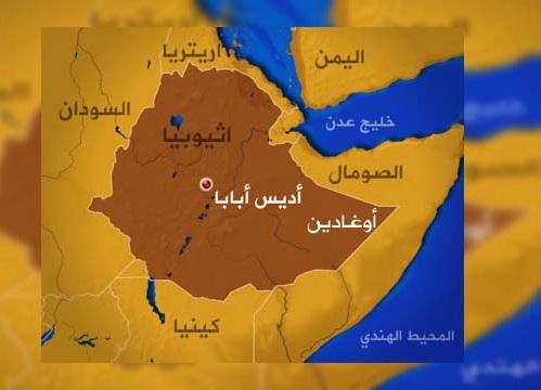خريطة أثيوبيا الصماء