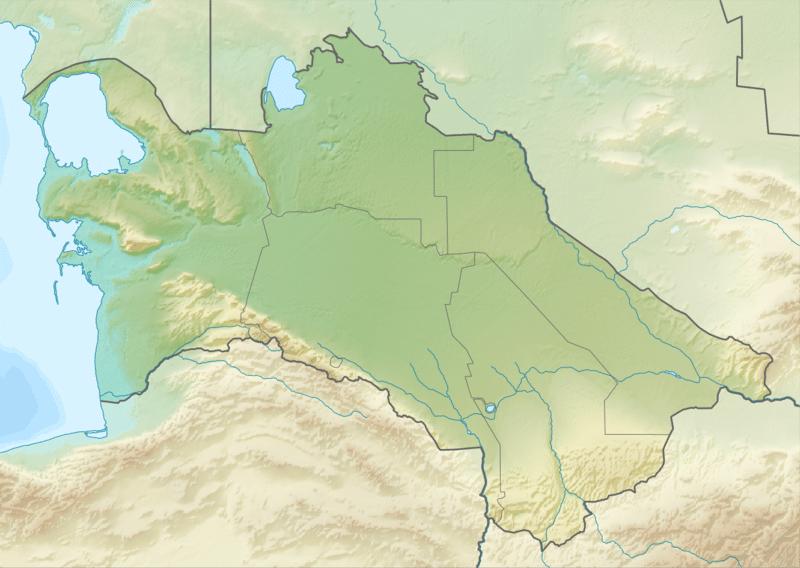 خريطة تركمانستان الطبيعية