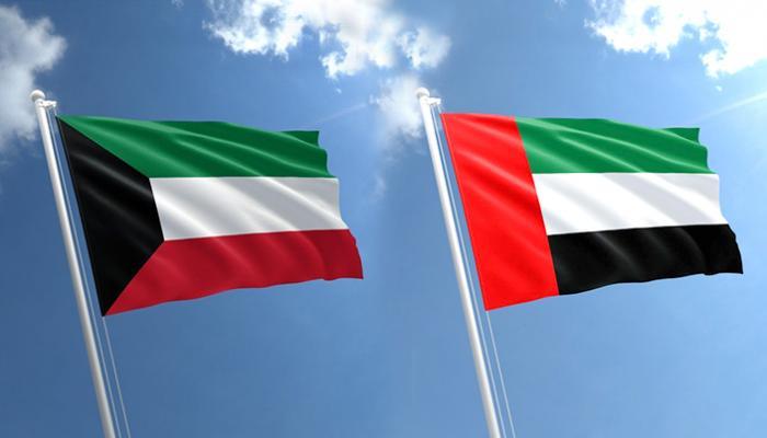 علم الكويت والإمارات