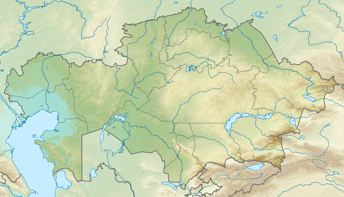 خريطة كازاخستان الجُغرافية