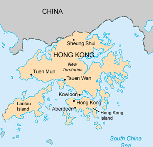 خريطة هونغ كونغ الصماء