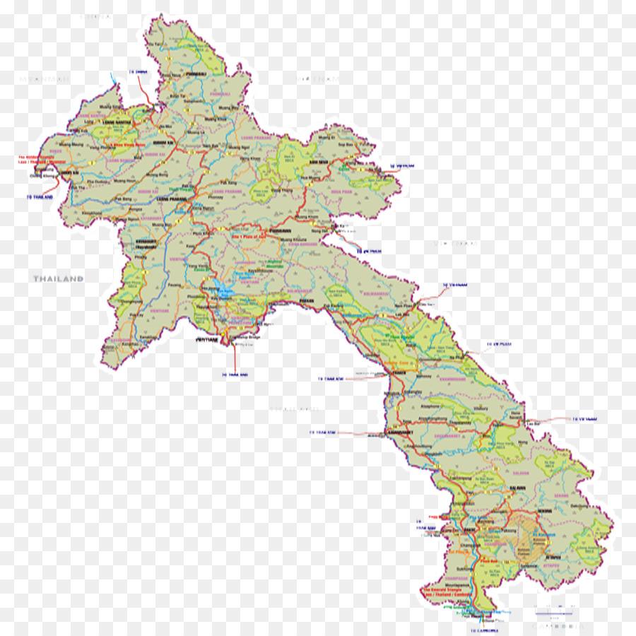 خريطة لاوس اطلس