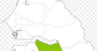 خريطة السنغال الصماء