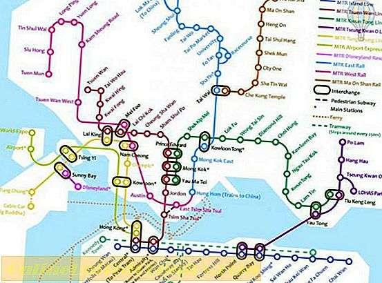 خريطة مترو هونغ كونغ