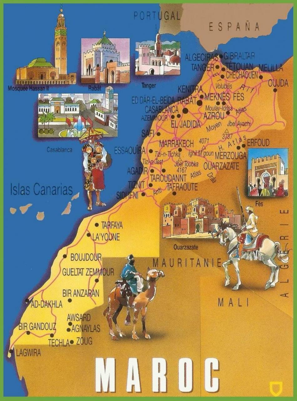 خريطة المغرب السياحية