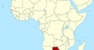 خريطة بوتسوانا الصماء