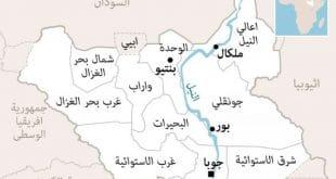 خريطة جنوب السودان
