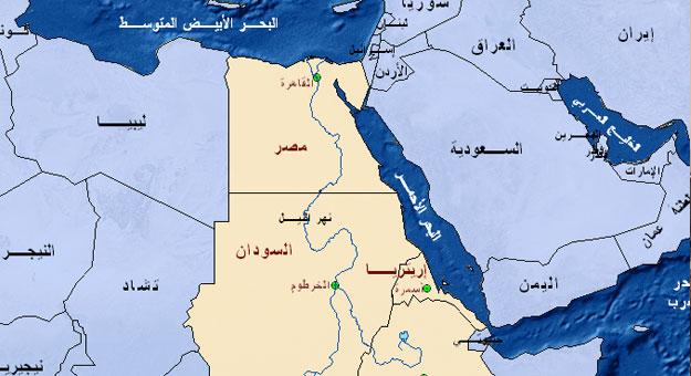 خريطة السودان و مصر