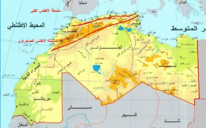 خريطة المغرب العربي
