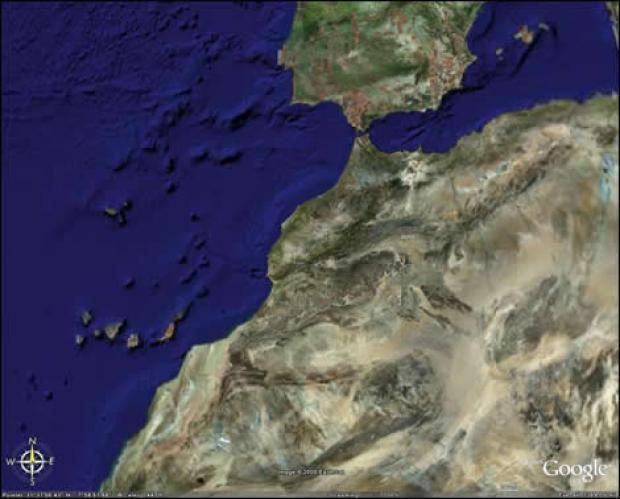 خريطة المغرب بالقمر الصناعي