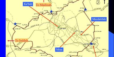 حدود الحرم المكي خريطة