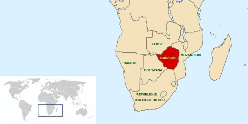 أين تقع زيمبابوي