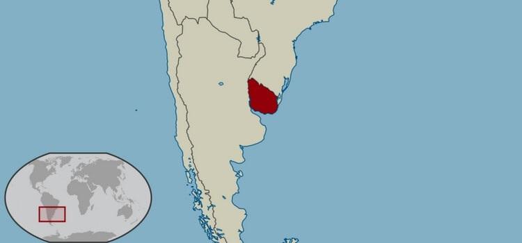 أين تقع أوروغواي| أحد دول قارة أمريكا الجنوبية وهي أوروغواي على الخريطة