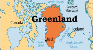 خريطة أكبر جزيرة في العالم